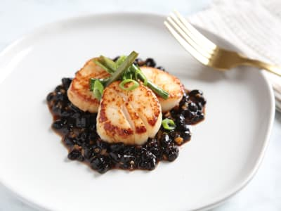 Image forPan-Seared Sea Scallops in Black Bean Sauce