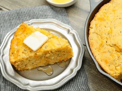 Image forSkillet Cornbread with Cheddar and Chives