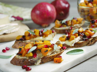 Image forButternut Squash and Brie Crostini