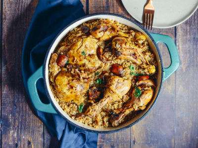 Image forOne Pot Chicken, Rice, and Mushroom Bake