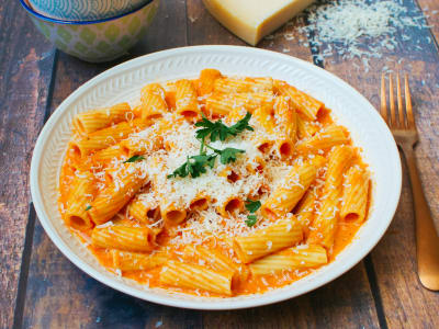 Image forFire-Roasted Red Pepper Pasta
