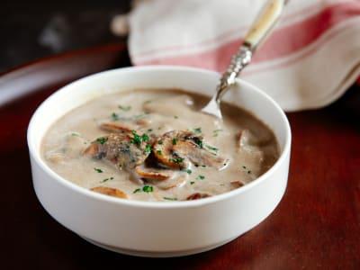 Image forPressure Cooker Skinny Cream of Mushroom Soup