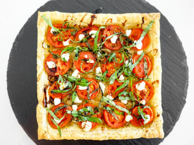 Image forTomato, Basil, and Goat Cheese Tart