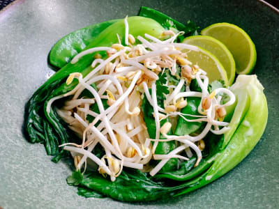 Image forGreen Thai Curry with Bok Choy and Snow Peas