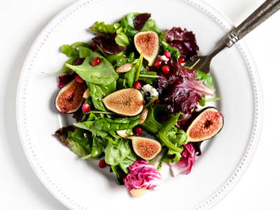 Image forWild Green Salad with Figs