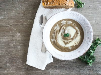 Image forWild Mushroom Soup with Mascarpone