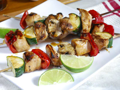 Image forHoney-Lime Chicken Kabobs