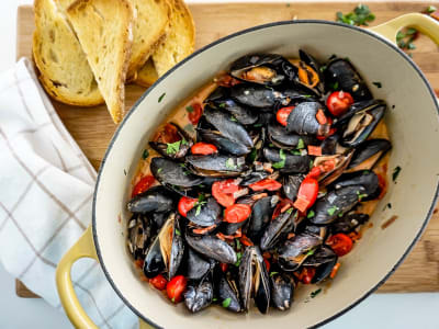 Image forSpanish-Style Mussels with Chorizo