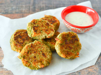 Image forBaked Broccoli-Cheddar Nuggets