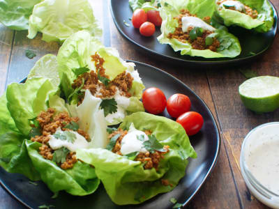 Image forGround Turkey Lettuce Cups