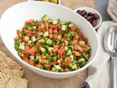 Image forMediterranean Tomato Cucumber Salad