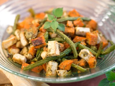 Image forRoasted Tofu and Vegetables with Pecan Pesto