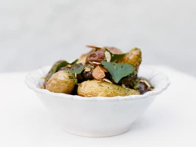 Image forRoasted Potatoes with Almond-Cilantro Pesto