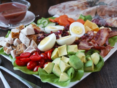 Image forTurkey Cobb Salad with Cranberry Vinaigrette