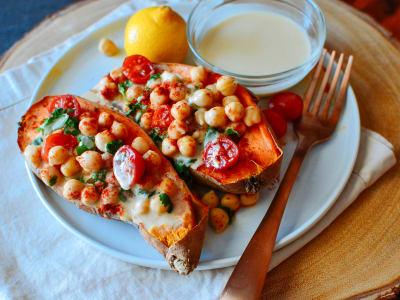 Image forMediterranean Baked Sweet Potatoes