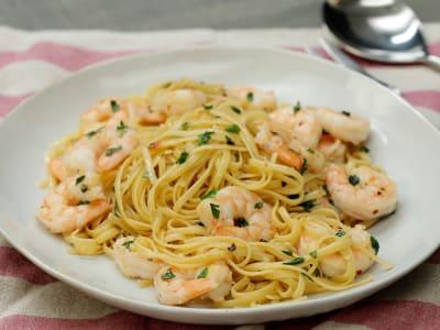 Image forSkinny Shrimp Scampi Linguine
