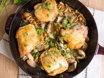 Image forOne-Pan Chicken & Mushrooms
