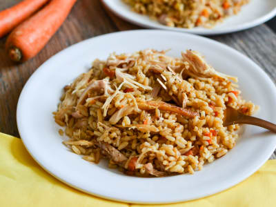 Image forPressure Cooker Shredded Chicken and Rice