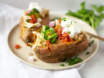 Image forPressure Cooker Mexican Stuffed Sweet Potatoes