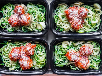 Image forMeal Prep: Turkey Meatballs and Zoodles