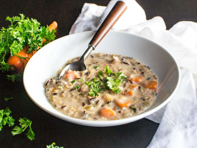 Image forPressure Cooker Creamy Wild Rice Soup