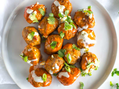 Image forPressure Cooker Buffalo Chicken Meatballs