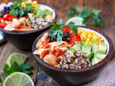 Image forPressure Cooker Chipotle Chicken and Quinoa Bowls
