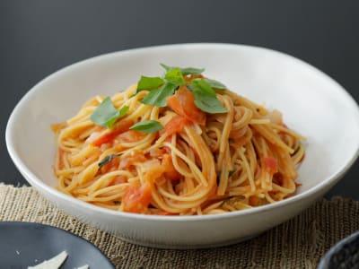 Image forPressure Cooker Tomato-Basil Spaghetti