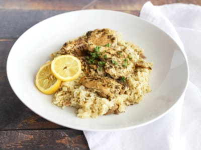 Image forPressure Cooker Lemon Chicken and Rice