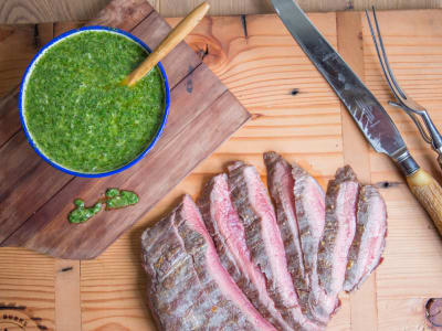 Image forGrilled Flank Steak with Chimichurri
