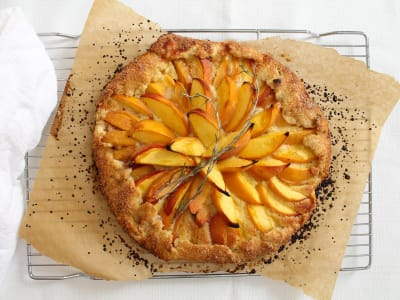 Image forPeach and Rosemary Frangipane Galette