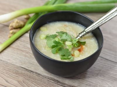 Image forPressure Cooker Chicken Congee (Chinese Rice Porridge)