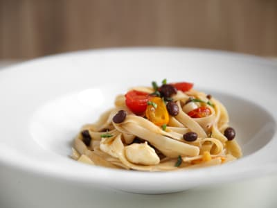 Image forPasta with Tomatoes and Black Beans