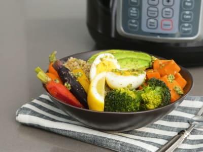 Image forPressure Cooker Pesto Veggie Grain Bowls