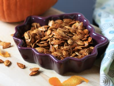 Image forAir Fryer Orange-Cardamom Pumpkin Seeds