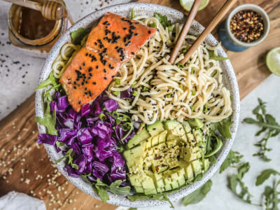 Image forPressure Cooker Tahini Honey Soy Ginger Salmon