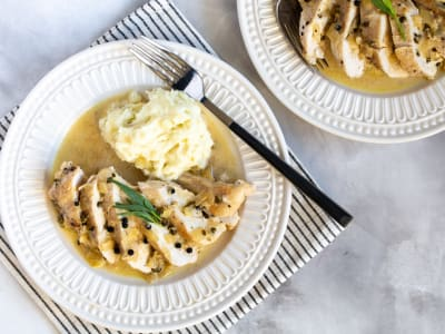 Image forPressure Cooker Green Peppercorn Chicken Breast and Mashed Potatoes