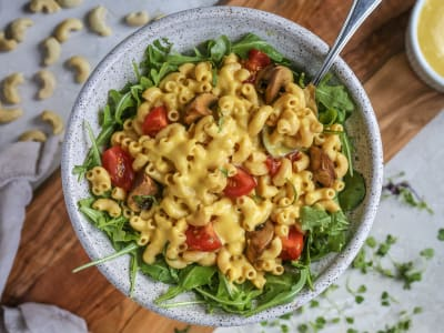 "Image forPressure Cooker Vegan Butternut Cashew Macaroni and ""Cheese"""