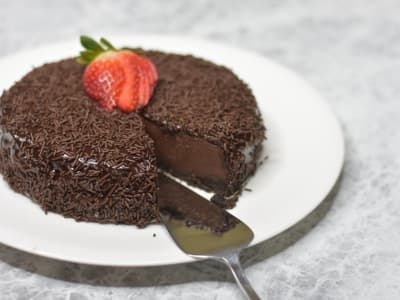 Image forPressure Cooker Chocolate Cheesecake
