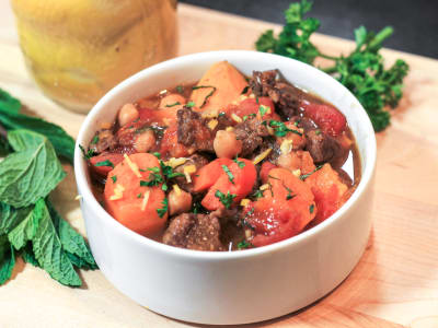 Image forPressure Cooker Moroccan Lamb and Sweet Potato Stew