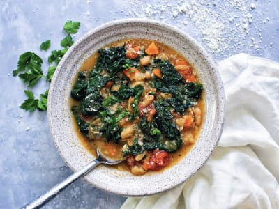 Image forPressure Cooker Tuscan White Bean Kale Soup