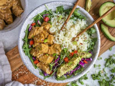 Image forPressure Cooker One-Pot Orange Chicken and Cauliflower Rice