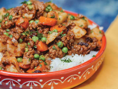 Image forPressure Cooker Authentic Picadillo with Rice