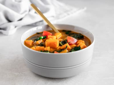 Image forPressure Cooker Sweet Potato, Tomato, and Kale Soup