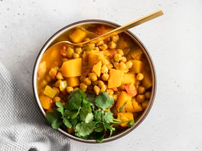 Image forPressure Cooker Chickpea and Squash Curry