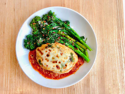 Image forPressure Cooker Keto Chicken Parmesan