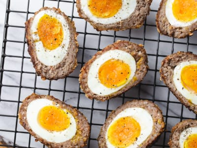 Image forAir Fryer Keto Scotch-Style Eggs