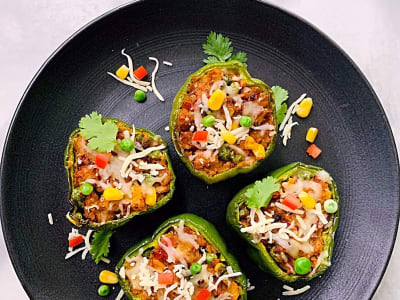 Image forCrispLid Bharwaan Shimla Mirch (Stuffed Peppers)