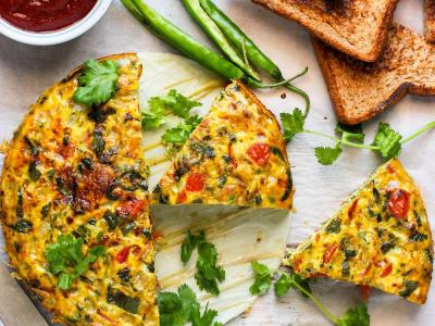 Image forCrispLid Egg Bhurji Frittata