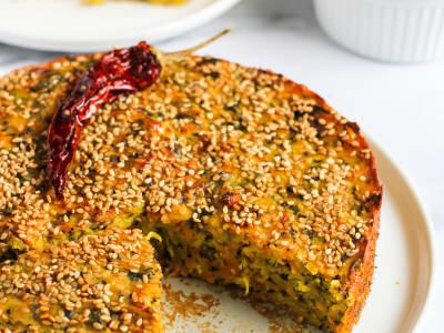 Image forCrispLid Handvo (Spicy Chickpea Cake)
